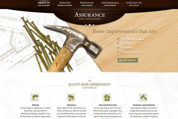 Assurance Home Improvements Website