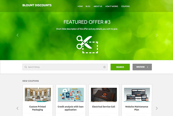 Blount Discounts Website