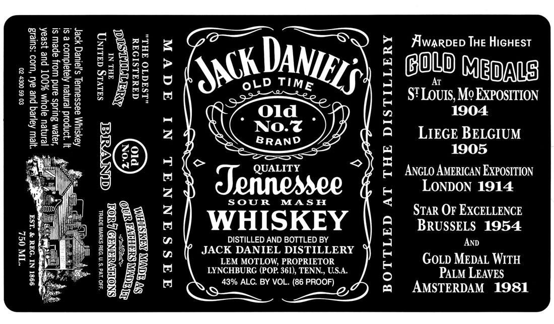 Jack Daniels Label