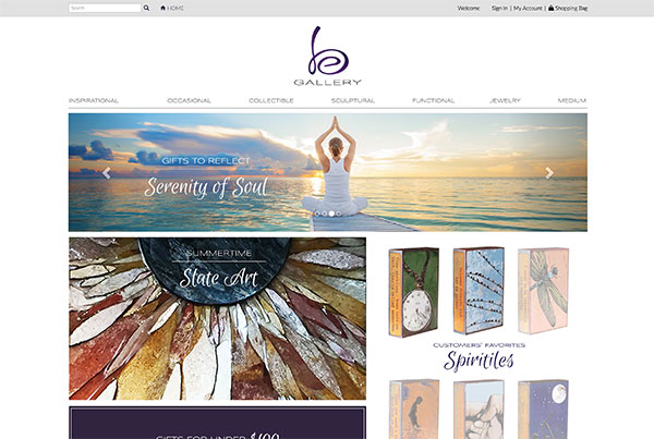 be.gallery Website